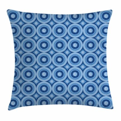 Retro Pattern Revival Tile Square Pillow Cover Size: 16 x 16