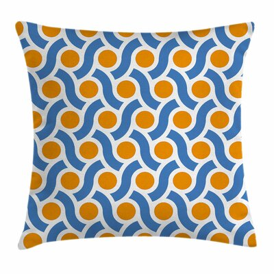 Dots Lines Square Pillow Cover Size: 18 x 18