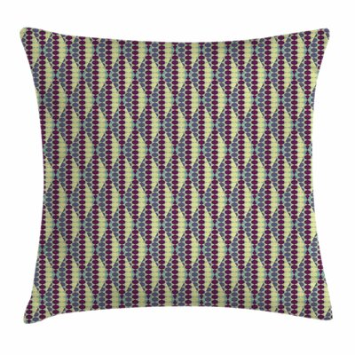 Retro Abstract Ethnic Geometric Square Pillow Cover Size: 20 x 20