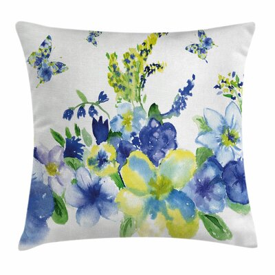 Spring Blooms Square Pillow Cover Size: 16 x 16