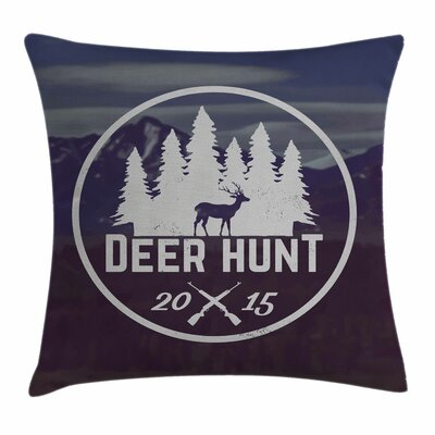 Emblem Antler Square Pillow Cover Size: 24 x 24