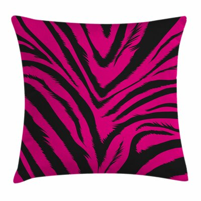 Teen Room Decor Zebra Skin Square Pillow Cover Size: 16 x 16