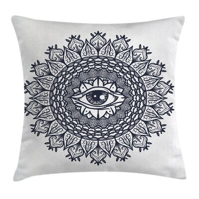 Vintage Tribal Mandala Square Pillow Cover Size: 16 x 16