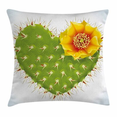 Cactus Thorny Opuntia Square Pillow Cover Size: 18 x 18