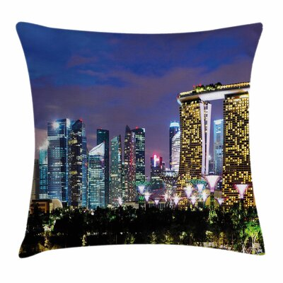 Singapore City Square Pillow Cover Size: 24 x 24