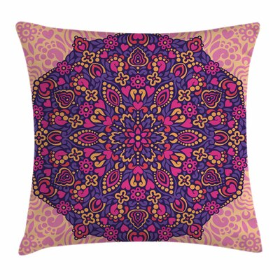 Mandala Abstract Islamic Square Pillow Cover Size: 24 x 24