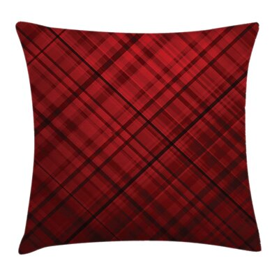 Scottish Kilt Pattern Square Pillow Cover Size: 20 x 20