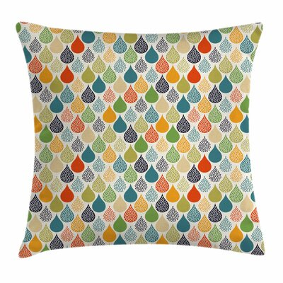 Abstract Large Drops Square Pillow Cover Size: 18 x 18