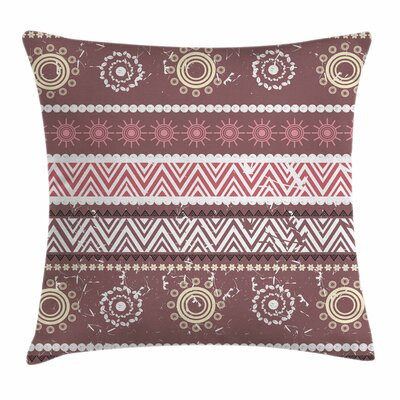Antique Traditional Boho Square Pillow Cover Size: 18 x 18