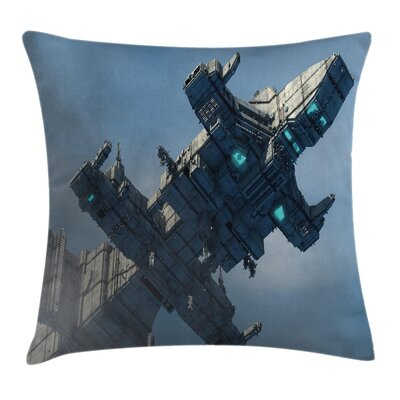 Fabric Cosmos Alien Warrior Square Pillow Cover Size: 24 x 24