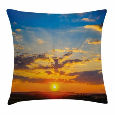 Sunset Square Pillow Cover Size: 24 x 24