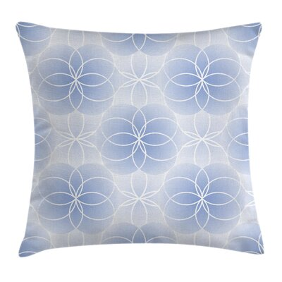 Flower of Life Modern Art Square Pillow Cover Size: 20 x 20
