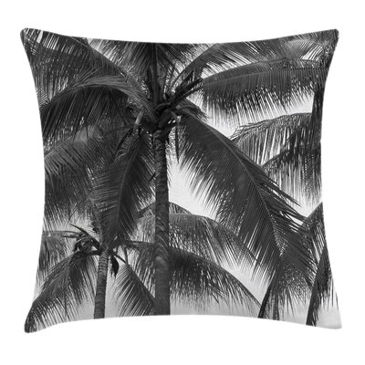 Coconut Palms Tropical Square Pillow Cover Size: 16 x 16