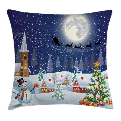 Christmas Winter Landscape Square Pillow Cover Size: 20 x 20