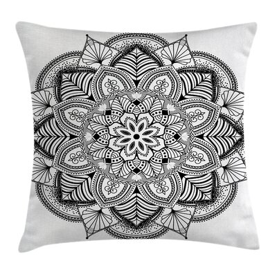 Fabric Mandala Art Square Pillow Cover Size: 20 x 20