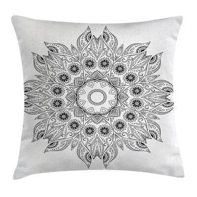 Floral Mandala Square Pillow Cover Size: 24