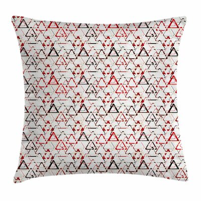 Abstract Overlapping Triangles Square Pillow Cover Size: 18 x 18