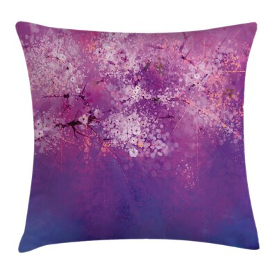 Cherry Blossom Square Pillow Cover Size: 16 x 16
