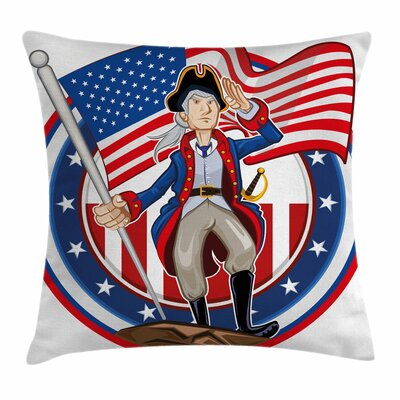 Patriot Emblem Square Pillow Cover Size: 24 x 24