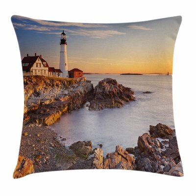 United States Cape Elizabeth Square Pillow Cover Size: 18 x 18