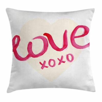 Xo Decor Heart Figure Letters Square Pillow Cover Size: 16 x 16