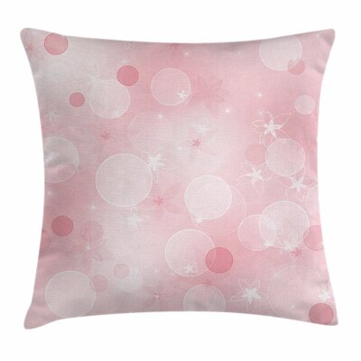 Floral Hazy Spots Square Pillow Cover Size: 24 x 24