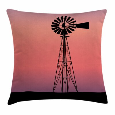 Windmill Decor Dreamy Western Square Pillow Cover Size: 16 x 16