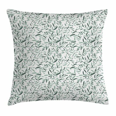 Garden Decor Olive Branches Square Pillow Cover Size: 16 x 16