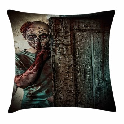 Zombie Decor Evil Eyes Monster Square Pillow Cover Size: 18 x 18