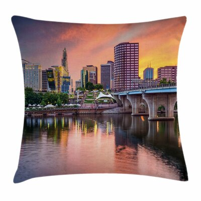 United States Hartford Evening Square Pillow Cover Size: 20 x 20