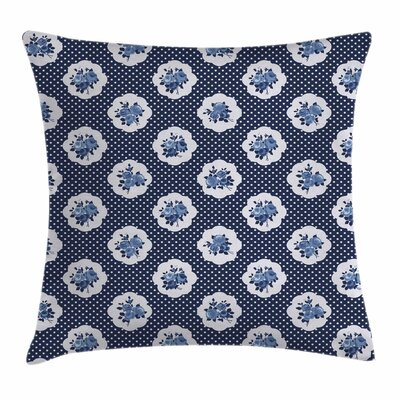 Shabby Elegance Decor Motifs Dots Square Pillow Cover Size: 24 x 24