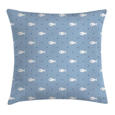 Kids Room Decor Little Fish Square Pillow Cover Size: 18 x 18
