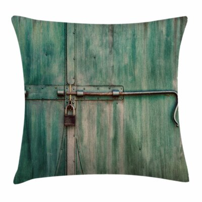 Old Metal Door Square Pillow Cover Size: 20 x 20
