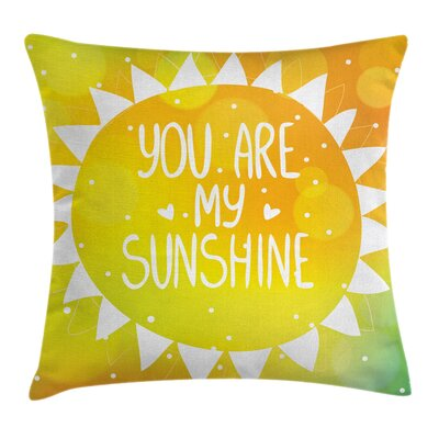 Shining Sun Love Art Square Pillow Cover Size: 16 x 16