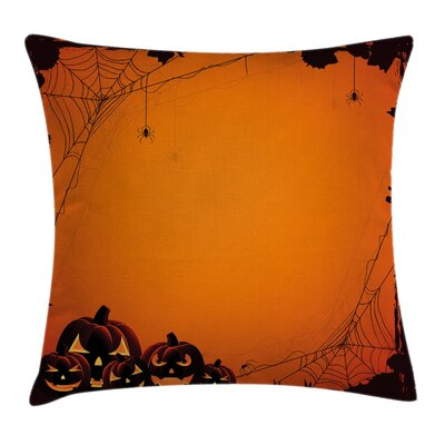 Halloween Pumpkin Scary Square Pillow Cover Size: 16 x 16