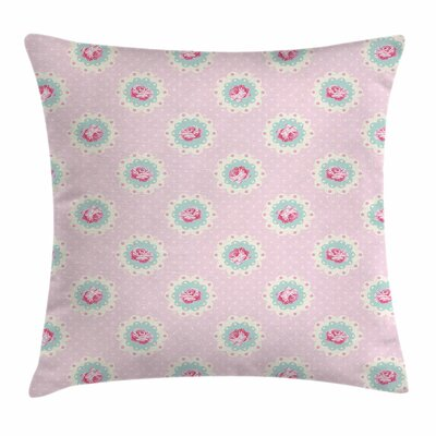 Retro Floral Square Pillow Cover Size: 24 x 24