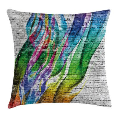 Abstract Art Colorful Retro Square Pillow Cover Size: 20 x 20