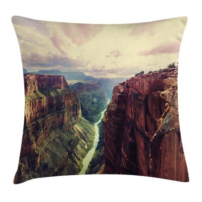 American Case Grand Canyon River Square Pillow Cover Size: 24 x 24