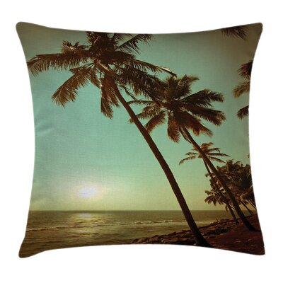 Tropical Sunset Pacific Dusk Square Pillow Cover Size: 20 x 20
