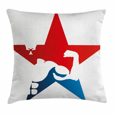 Fitness Athlete Silhouette Star Square Pillow Cover Size: 18 x 18