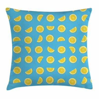 Fresh Slices Summer Sun Square Pillow Cover Size: 24 x 24