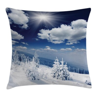 Snow CoveTrees Square Pillow Cover Size: 18 x 18