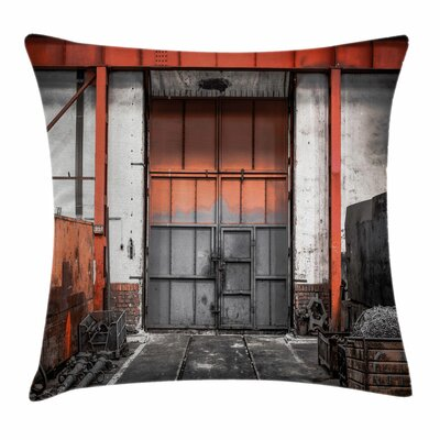 Metal Gate Old Square Pillow Cover Size: 24 x 24