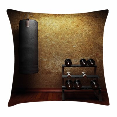 Fitness I Like Fitness Quote Square Pillow Cover Size: 18 x 18