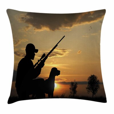 Fowling Theme Square Pillow Cover Size: 24 x 24