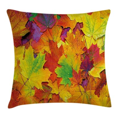 Fall Decor Leaves Square Pillow Cover Size: 16 x 16