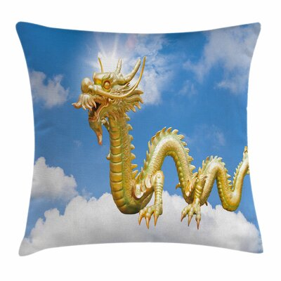 Dragon Cultural Chinese Symbol Square Pillow Cover Size: 24 x 24