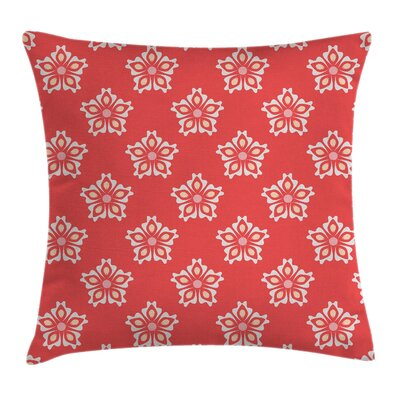 Floral Victorian Shapes Square Pillow Cover Size: 16 x 16