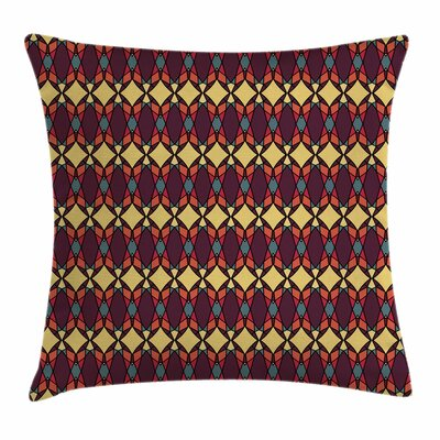 African Abstract Ethnic Figures Square Pillow Cover Size: 18 x 18