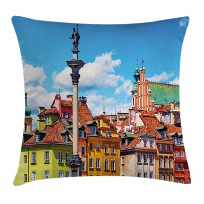 Scenic Old Warsaw Square Pillow Cover Size: 16 x 16